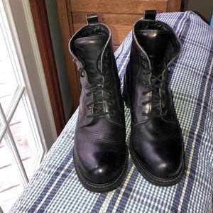 🏍 Havana Joe Lace Up Leather Moto Ankle Boots